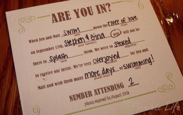 DIY Wedding RSVP Cards