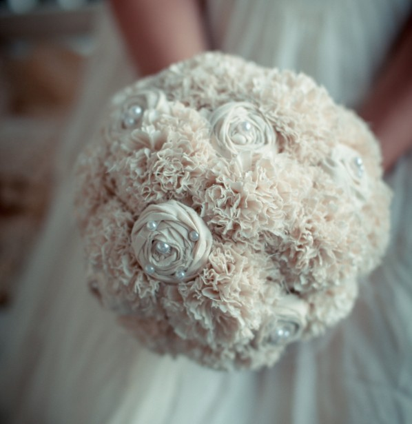 Heirloom Vintage Fabric Wedding Bouquet