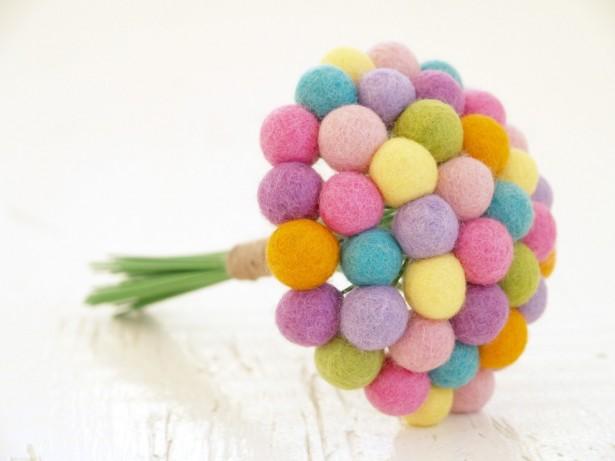 Pastel Artificial Wedding Bouquet