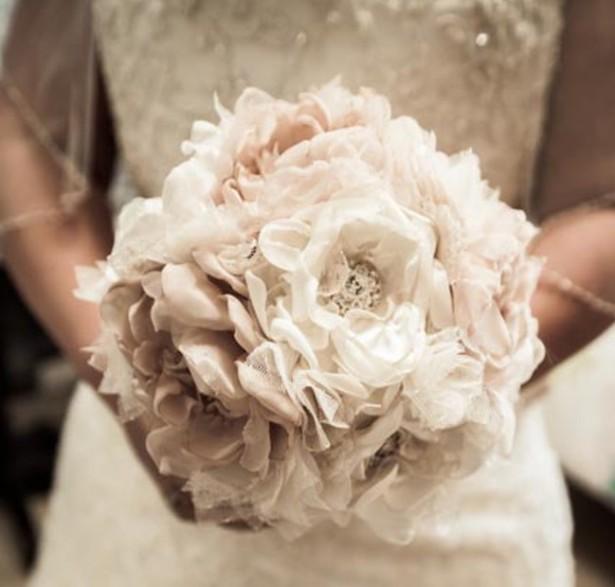Vintage Fabric Brooch Wedding Bouquet