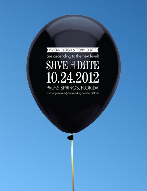 Inflated Balloon Save the Date