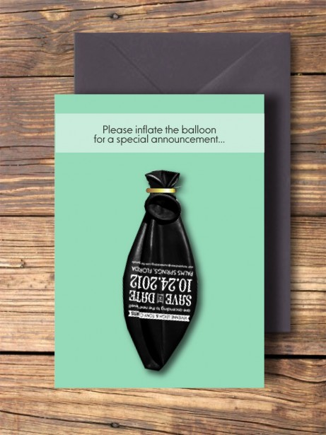 Balloon Wedding Invitation
