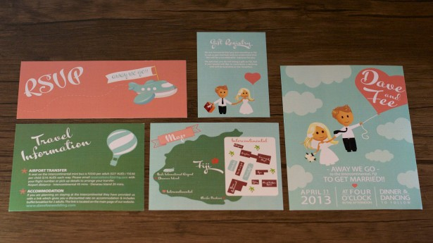 Up and Away Destination Wedding Invitation