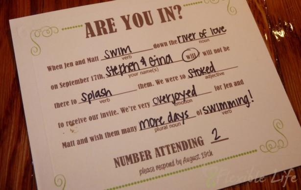DIY Wedding RSVP Cards