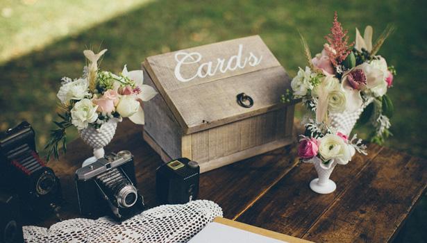 Vintage Wedding Card Box